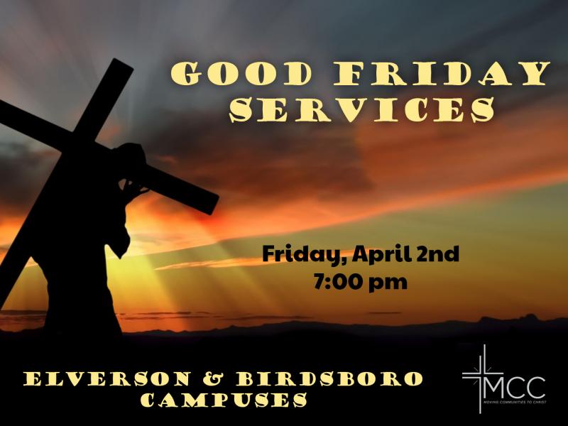 Good Friday Services at MCC