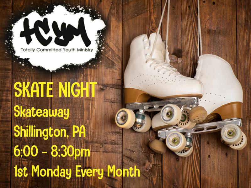 TCYM Monthly skate Night